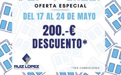 Oferta especial Mayo